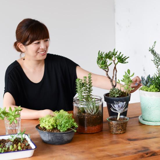 【特集 多肉とくらす】第一話:フラワーアーティストのsocukaさんに、多肉植物の育て方きいてみました。