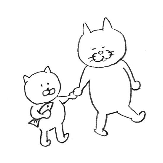 【今日のスケッチ】高まるネコ愛を、ネコカルタに。