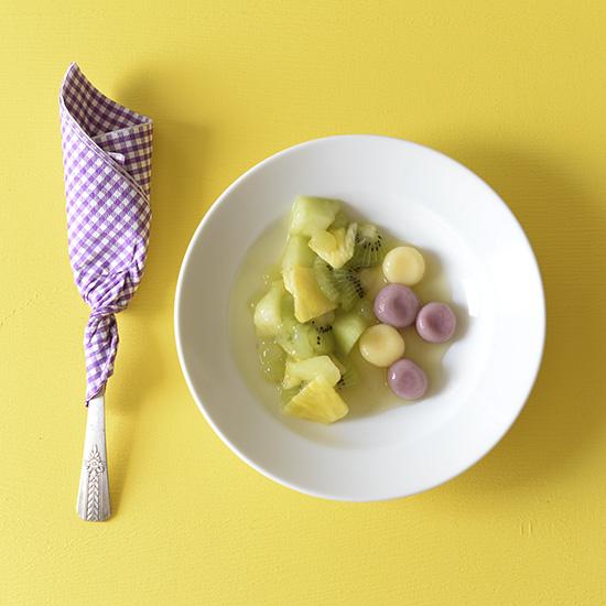 【冷たいおやつ】カラフル白玉フルーツポンチの作り方。