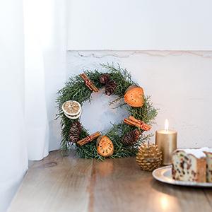 【ハンドメイドの花飾り】第4話:今年こそ手づくりで♪ 初めてでも安心、クリスマスリース作り。
