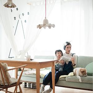 【インテリア特集】第1話:北欧×パステルの、居心地の良いリビングルーム(よしいちひろさん)