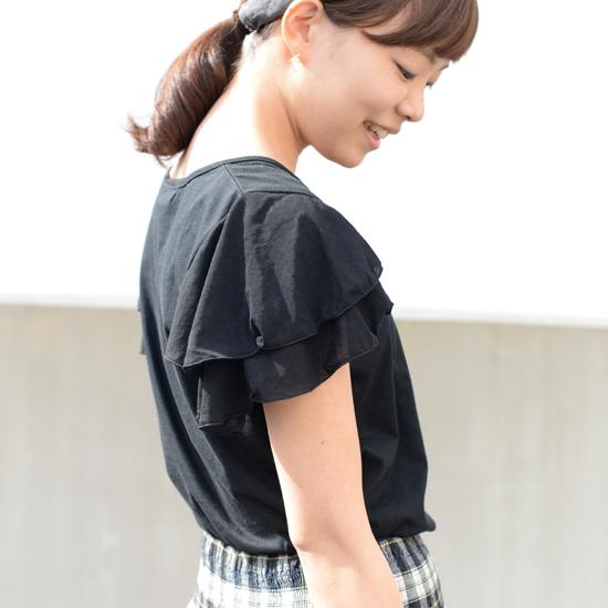 【着用レビュー】Porter des boutonsのフレアスリーブトップスを着てみました! -バイヤー 竹内編-