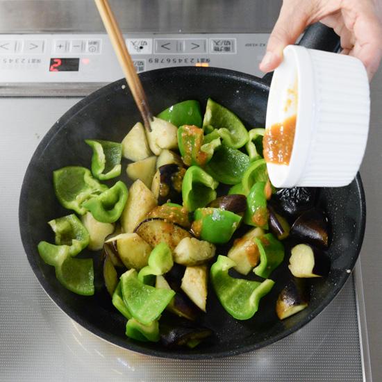 【料理家さんの定番レシピ】常備菜の「塩なす」をつかった、味噌炒めのレシピ