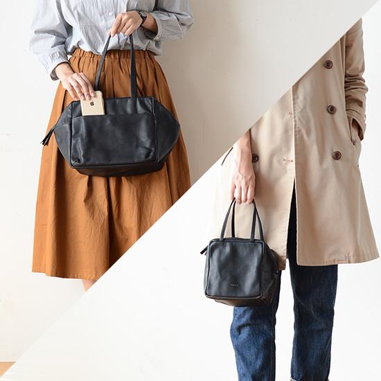 【新商品】黒レザーバッグはやっぱり頼れる!かわいらしい見た目なのに収納力は男前なんです。