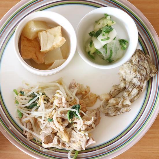【クラシコムの社員食堂】麩・へちま・パパイヤ・もずくで沖縄料理づくしの社食でした!