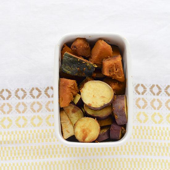【料理家さんの定番レシピ】さつまいもとかぼちゃの「含め煮」で、和食上手のお弁当に
