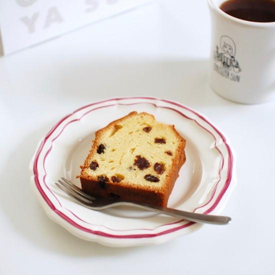 【23時の、僕とおやつ】おやつ工房から「ラムレーズンのパウンドケーキ」が焼き上がりました!