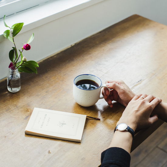 【X'mas特別企画!】陶芸作家 飯高幸作さんと一緒につくった、当店オリジナル・「喫茶店じかん」のマグカップ。