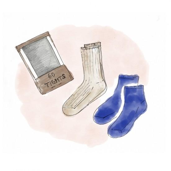 【今日のスケッチ】あたらしい季節になるとほしくなる、靴下。