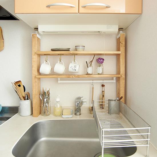 diyで棚を作って大型キッチン収納に 初心者も簡単な作り方だから手作り