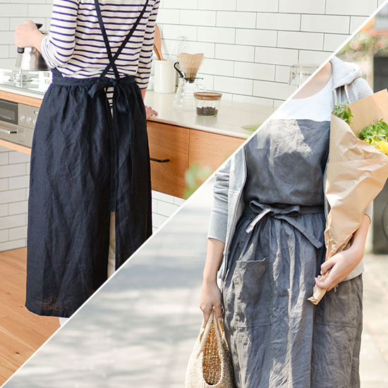 【当店限定】憧れのfog linen workのリネンで当店だけのエプロンワンピースをつくりました!