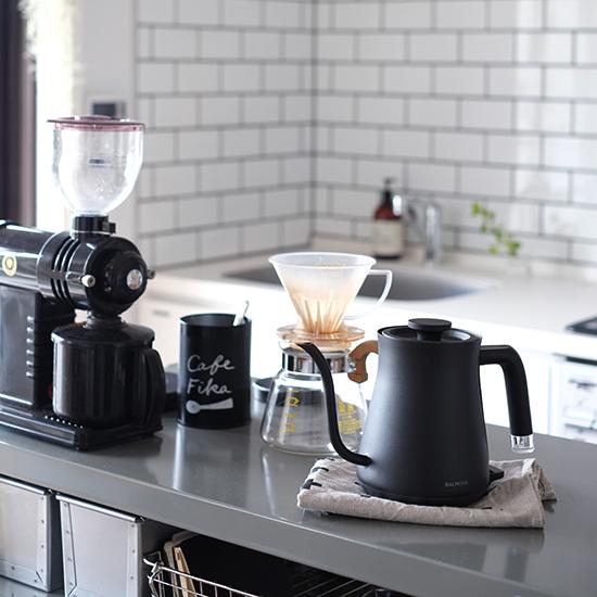 【スタッフの愛用品】バルミューダのケトルで、至福のコーヒータイム。