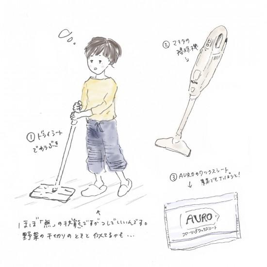 【今日のスケッチ】床掃除、これだけしておけば!のルーティン。