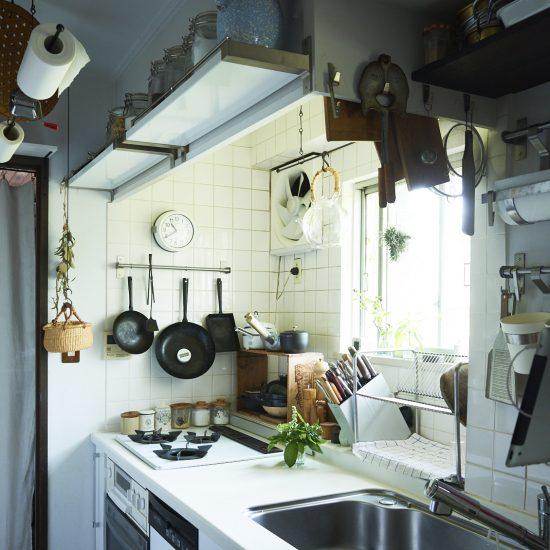 【インテリア特集】第2話:使いながら手を加えて。 2畳をくまなく活用したキッチン風景
