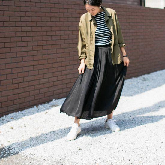 【新商品】たっぷりプリーツでシワが目立ちにくい。パンツ派も納得のロングスカートが新登場です!