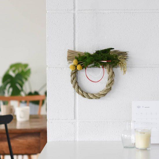 【新商品】当店オリジナルのしめ縄リース!雑貨感覚で楽しめる、SOCUKAさんとつくったお正月飾り。