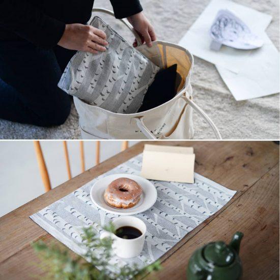 【新商品】フィンランドに想いを馳せる白樺模様のポーチとランチョンマット♪ラプアン・カンクリから新登場!