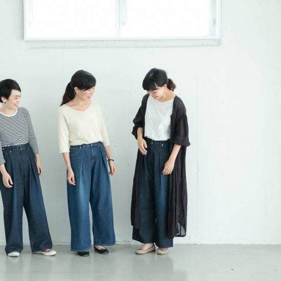 【着用レビュー】 新作!「オリジナルワイドパンツ」を、身長別3名のスタッフがはいてみました!