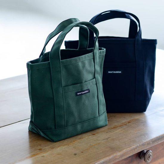 【新商品&再入荷】marimekkoのミニトートに日本限定色のカーキが仲間入り。定番ブラックも再入荷しました!