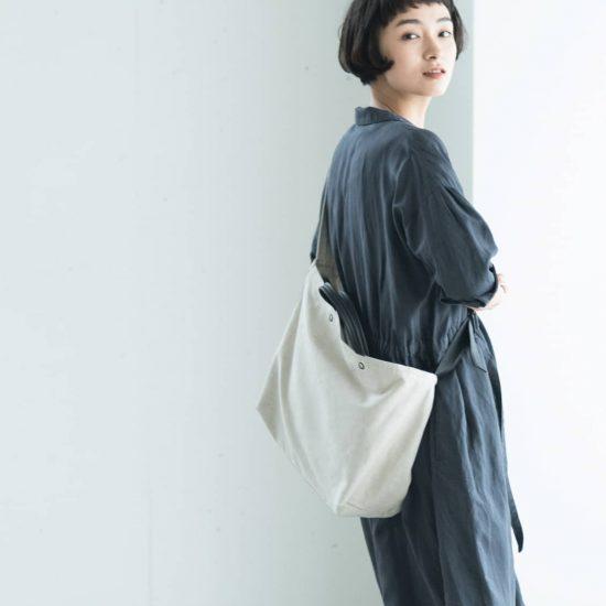 【新商品】2WAYショルダーバッグが登場!上質なリネンコットンとレザーを使った大人の雰囲気が魅力です。