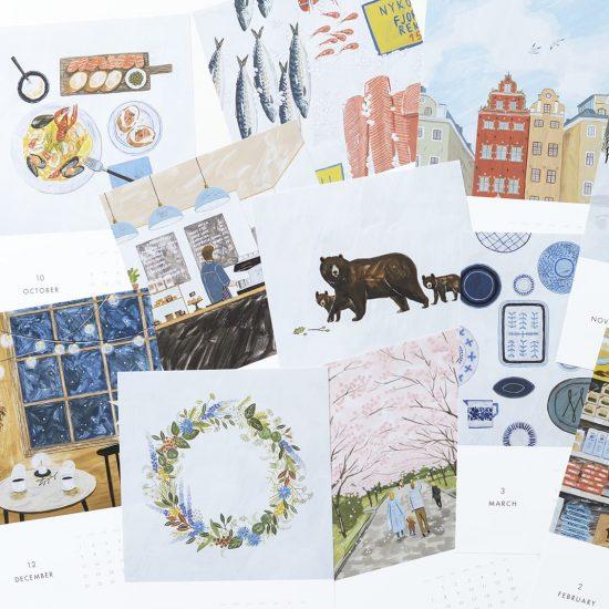 【数量限定】北欧旅行の気分を味わえる♪ オリジナルカレンダー2019が出来ました!