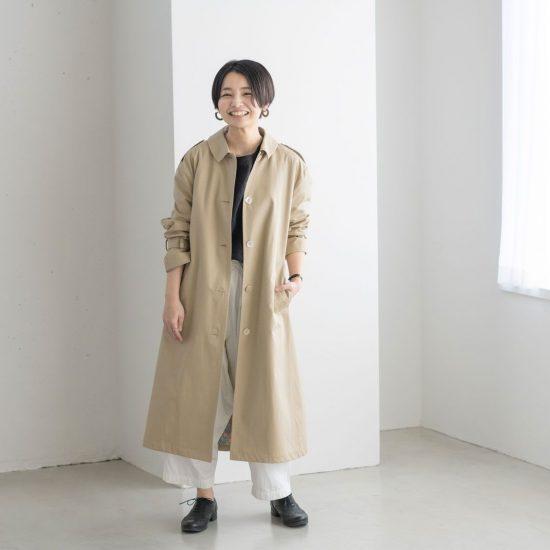 【着用レビュー】やっと出会えた理想のトレンチ!ポルテ デ ブトンの「春コート」を、身長別3名のスタッフが着てみました