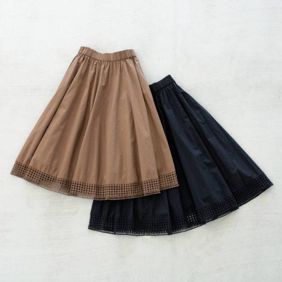 【新商品】どこにもないオリジナルの刺繍レースに心ときめく、大人のフレアスカートが入荷しました!