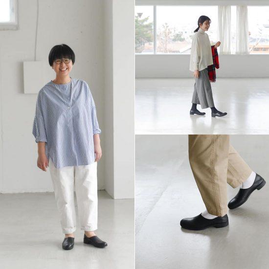 【着用レビュー】当店別注!「ショセ」のスリッポンシューズを、サイズと足幅の違う4人のスタッフが履いてみました