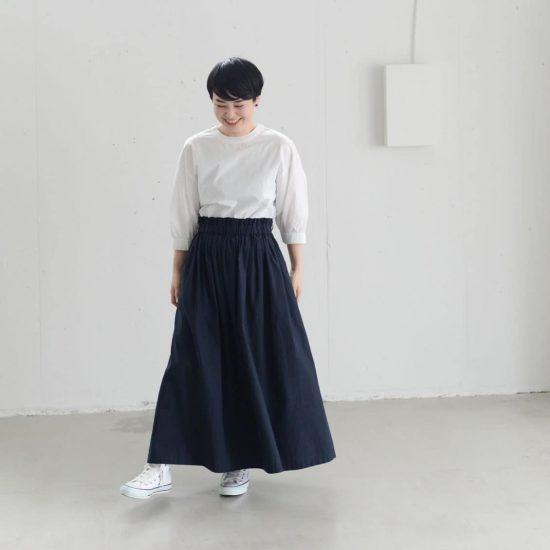【着用レビュー】香菜子さんと作ったオリジナル3wayスカートを、身長別3名のスタッフが着てみました