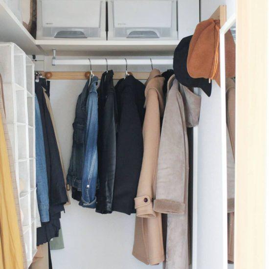 【クローゼット収納術】デッドスペースを作らない!クローゼットの収納上手になれるアイデア