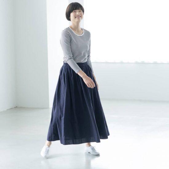【新商品】カジュアルな装いにもぴったり♪ パンツ派さんにもおすすめしたいギャザースカートをつくりました!