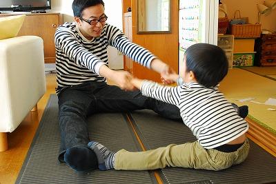 親子体操。
