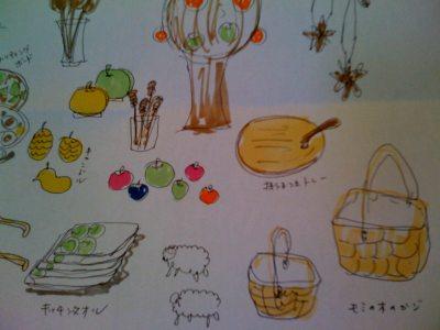 国立店で「北欧の林檎ときのこ、秋の森。」を開催します!